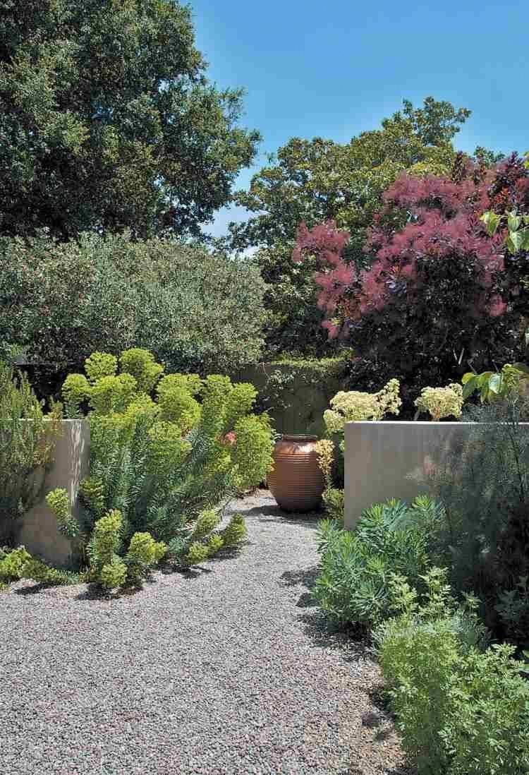 Gravier-Décoratif-Allee-Jardin-Plantes-Deco-Exterieur ... tout Idee Deco Jardin Gravier
