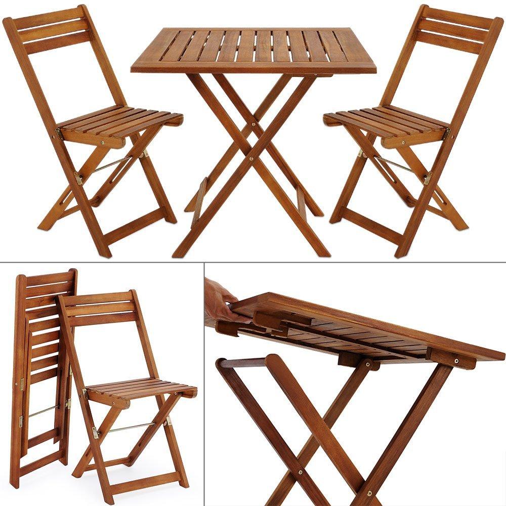 Greemotion Ensemble Chaise Et Table Bistrot Borkum Table De ... à Table De Jardin Pliante En Bois