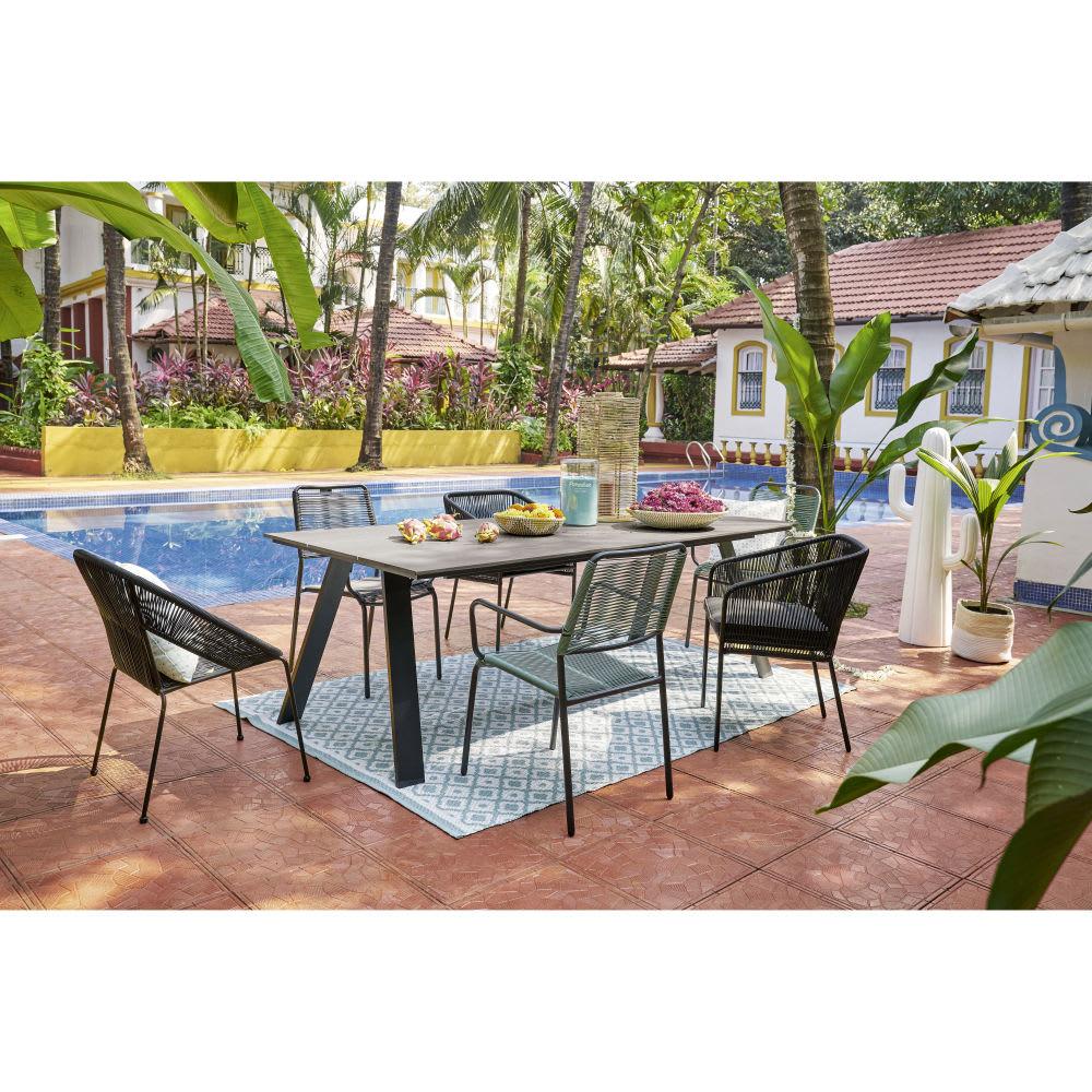 Green Garden Armchair serapportantà Table De Jardin Maison Du Monde