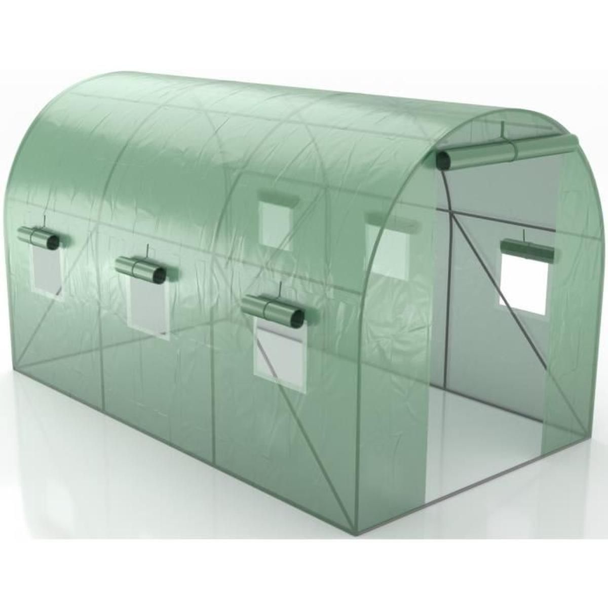 Green Roof - Serre De Jardin Tunnel 7M2 - 3,5X2M tout Bache Pour Serre De Jardin