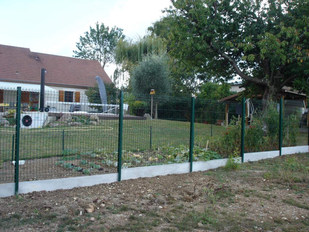 Grillage Rigide Vert - Jardimalin - Fil 4Mm - 0,63 Mètre avec Cloture Jardin Grillage Rigide