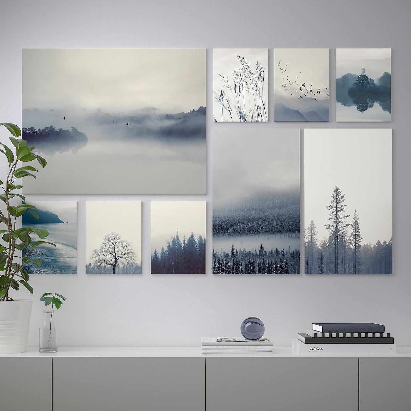 "Grönby Picture, Set Of 9 - Blue Landscape 70 ½X44 "" dedans Desserte Jardin Ikea"