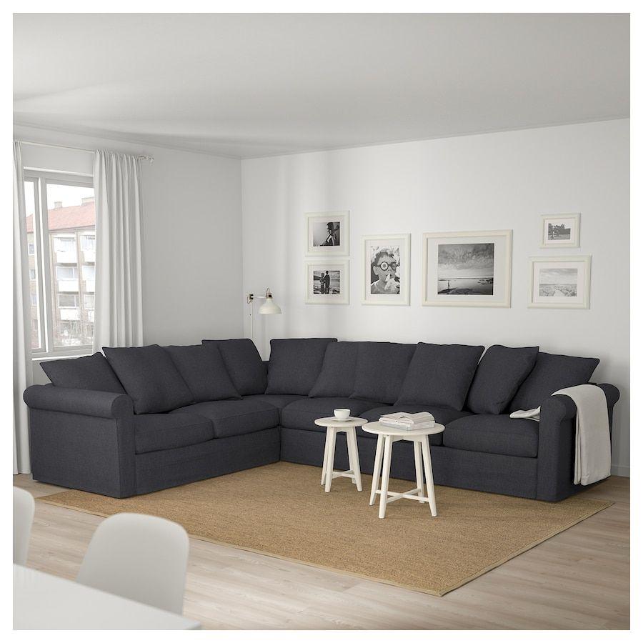 Grönlid Canapé D'angle, 5 Places - Sporda Gris Foncé ... destiné Siege Jardin Ikea