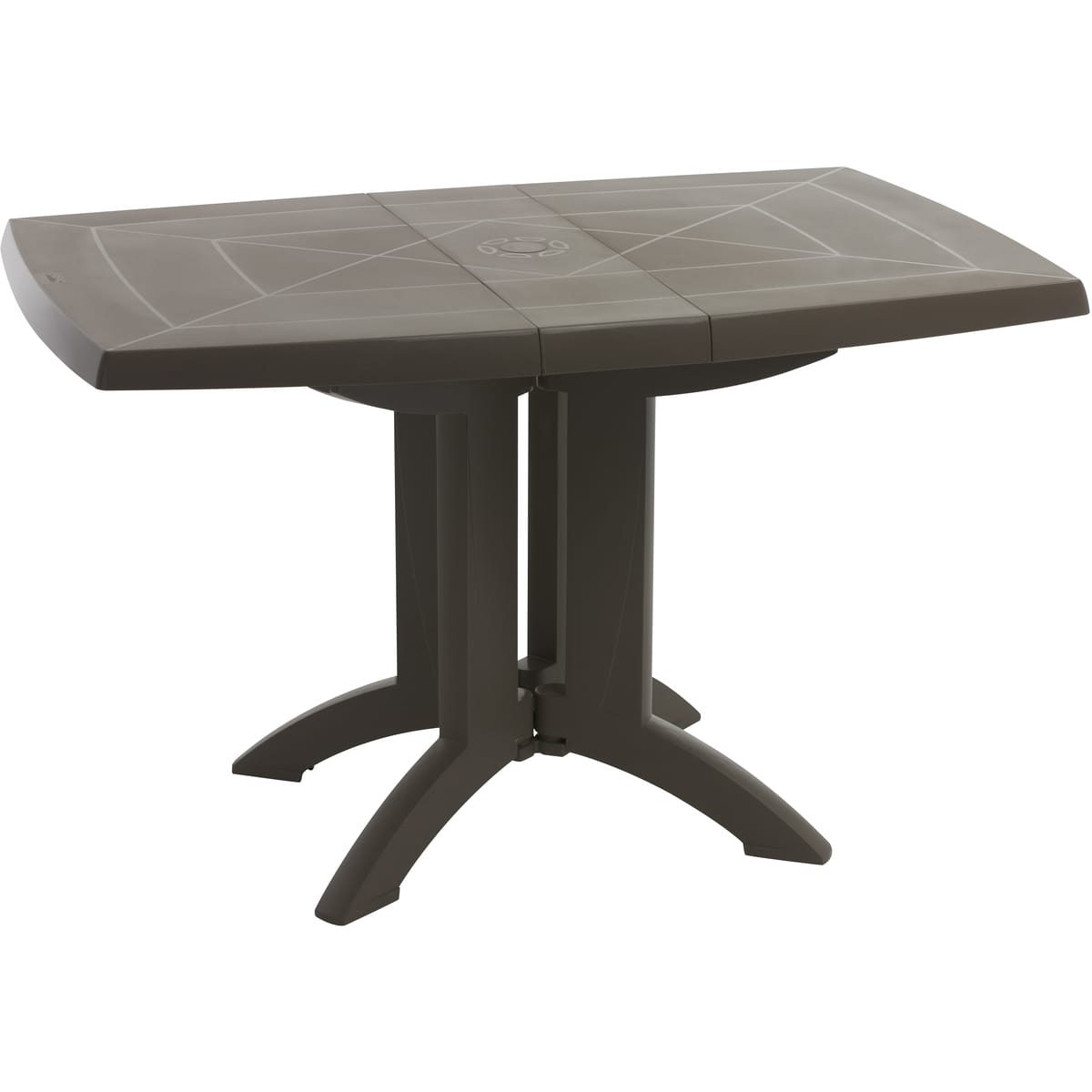 Grosfillex Table De Jardin Pliante 118X77Cm Résine Taupe Vega intérieur Table De Jardin Auchan