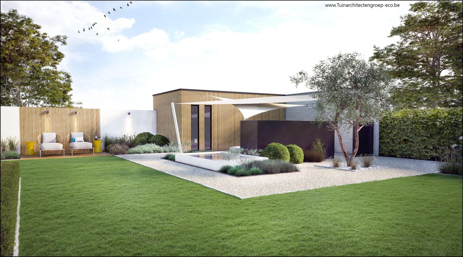 Groupe Eco Paysagiste | Projets 3D | Jardin Moderne Ninove ... pour 3D Jardin & Paysagisme