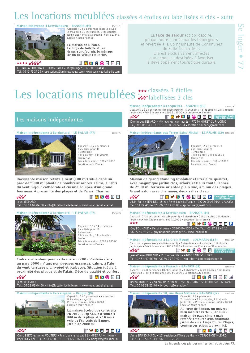 Gsd 2014 By Ot Belle Ile - Issuu intérieur Prix Location Jardin