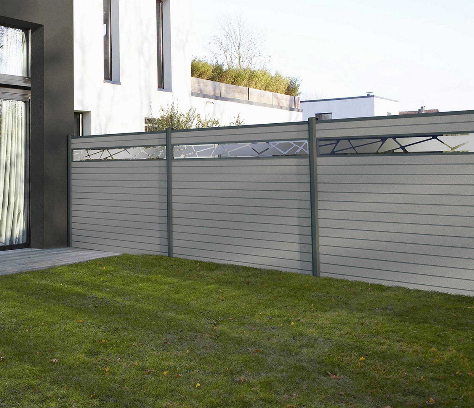 Guide Des Prix Clôture | Beton | Rigide | Composite ... dedans Palissade Jardin Pas Cher