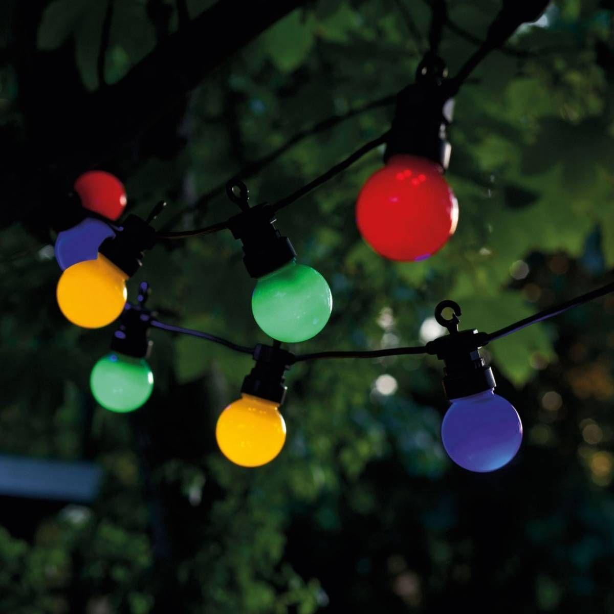 Guirlande Lumineuse Extérieur Led Party Guinguette - Taille ... concernant Sphere Lumineuse Jardin