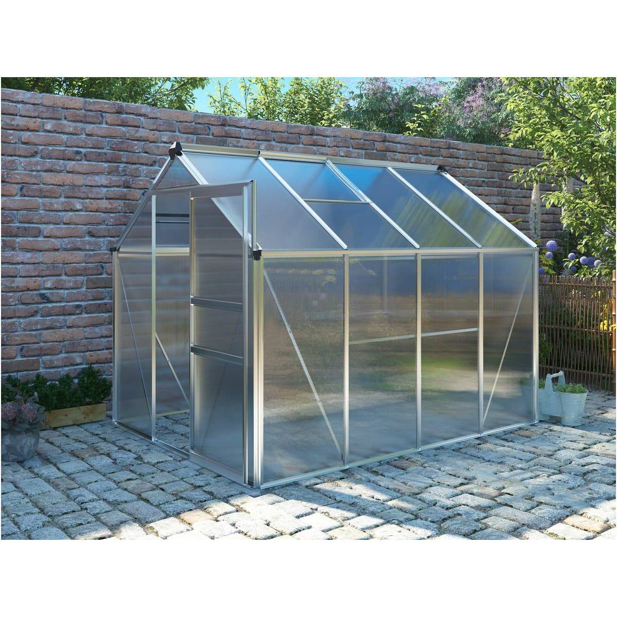 Habitat Et Jardin Serre Jardin Polycarbonate Hortensia 4 ... destiné Serre De Jardin Auchan