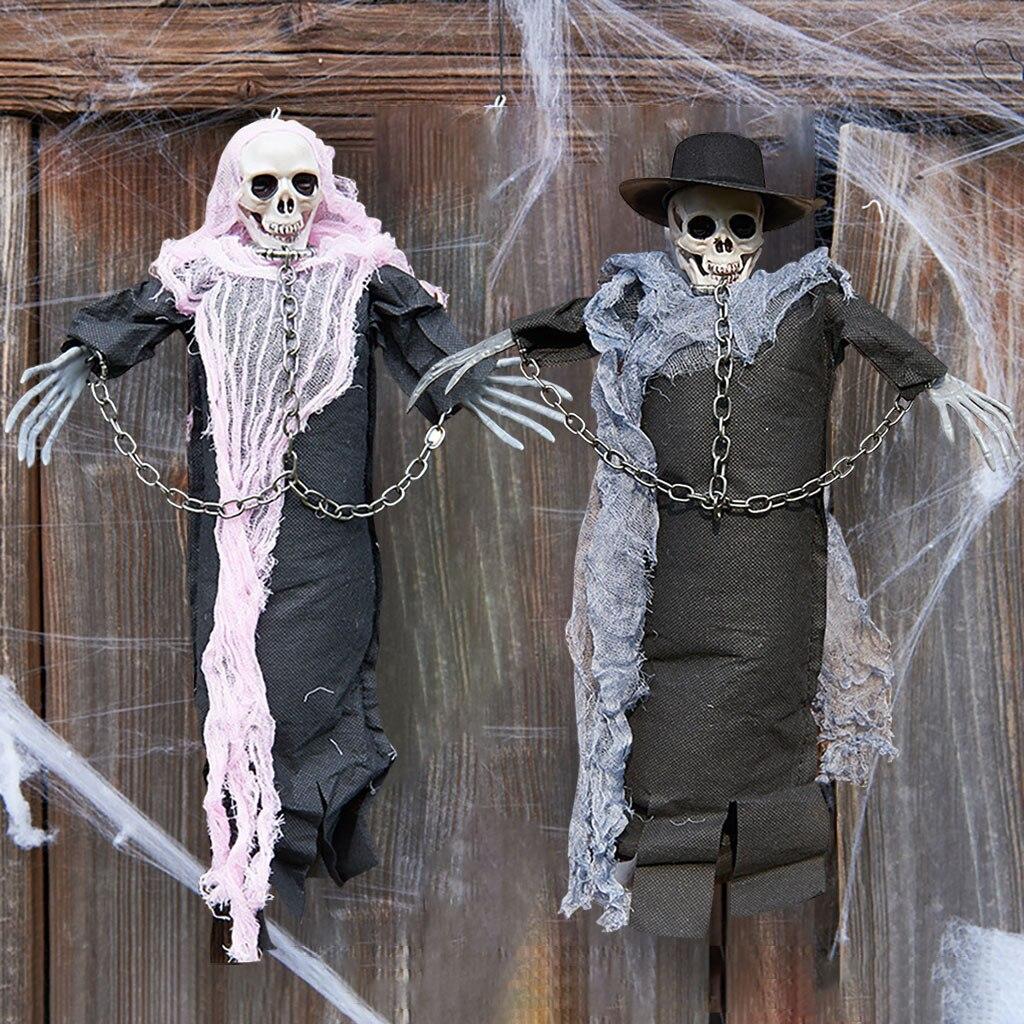 Halloween Hanging Horror Props Hanging Ghost Bar Atmosphere Scene  Decoration Multicolor Monden Professional 2019 New Aug9 serapportantà Deco Jardin Halloween