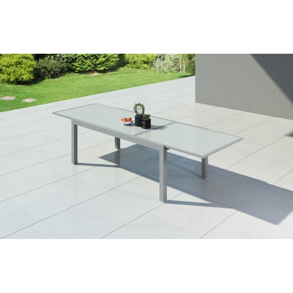 Hara Xxl - Table De Jardin Extensible Aluminium 200/320Cm + ... tout Table De Jardin Xxl