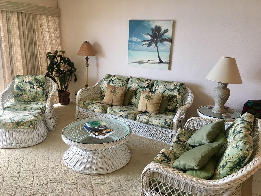 Hawaii-Kona-Sea Village-Beautiful Ocean View (Front) 2 Bd 2Bth - Kailua-Kona à Salon De Jardin Hawai