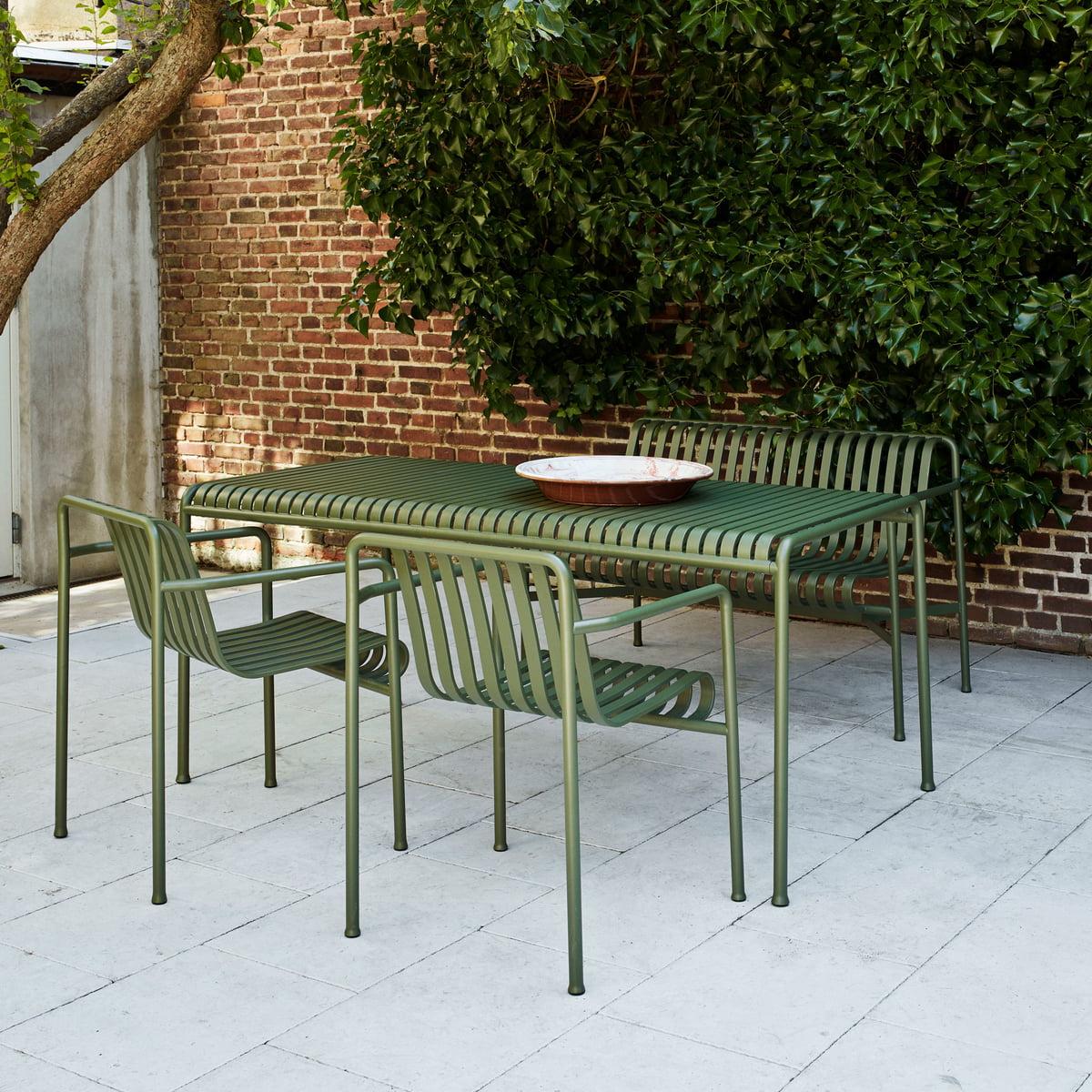 Hay - Palissade Tisch, Rectangular, 170 X 90 Cm, Light Grey intérieur Table Jardin Super U