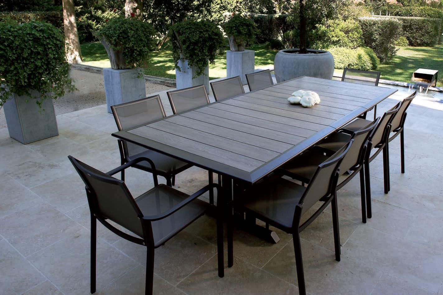 Hegoa By Claude Robin - Table Contemporaine / En Métal / Rectangulaire / De  Jardin By Les Jardins | Archiexpo avec Table Jardin Aluminium Avec Rallonge