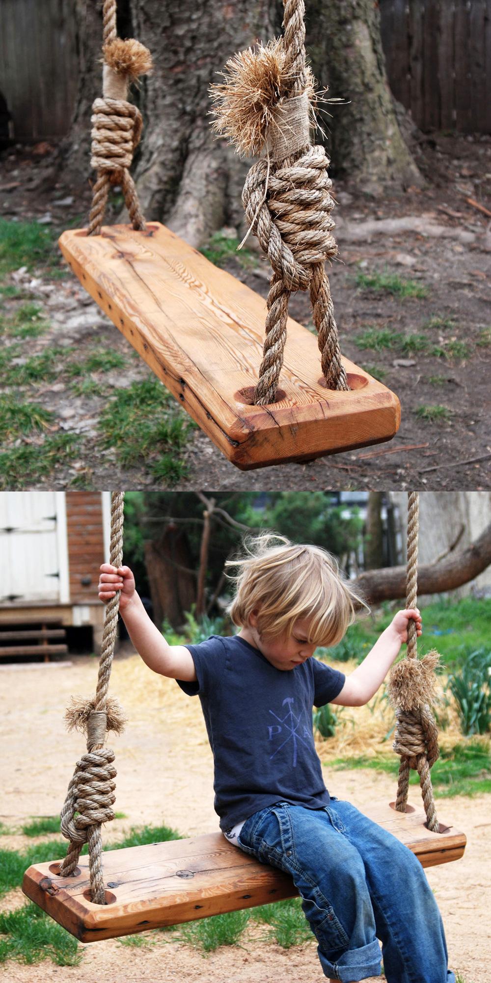 Here's A Great Way To Recycle: Repurpose A Pine Floor Joist ... intérieur Balancoire Pour Petit Jardin