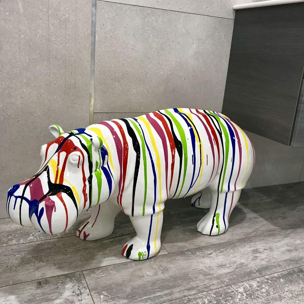 Hippopotame Trash En Résine. Animaux En Résine Pour Une ... dedans Animaux Resine Pour Jardin
