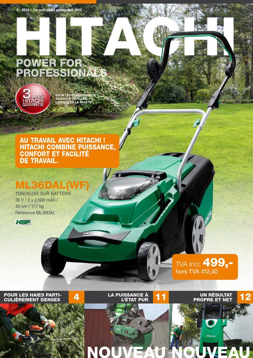 Hitachi Power For Professionals: Actions Outils De Jardin By ... pour Faucheuse Jardin