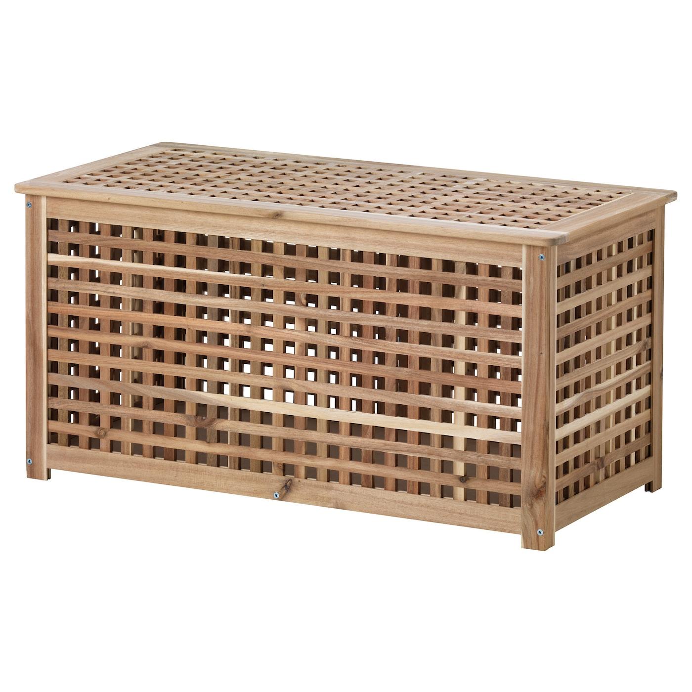 Hol Table De Rangement - Acacia 98X50 Cm intérieur Coffre De Jardin Ikea