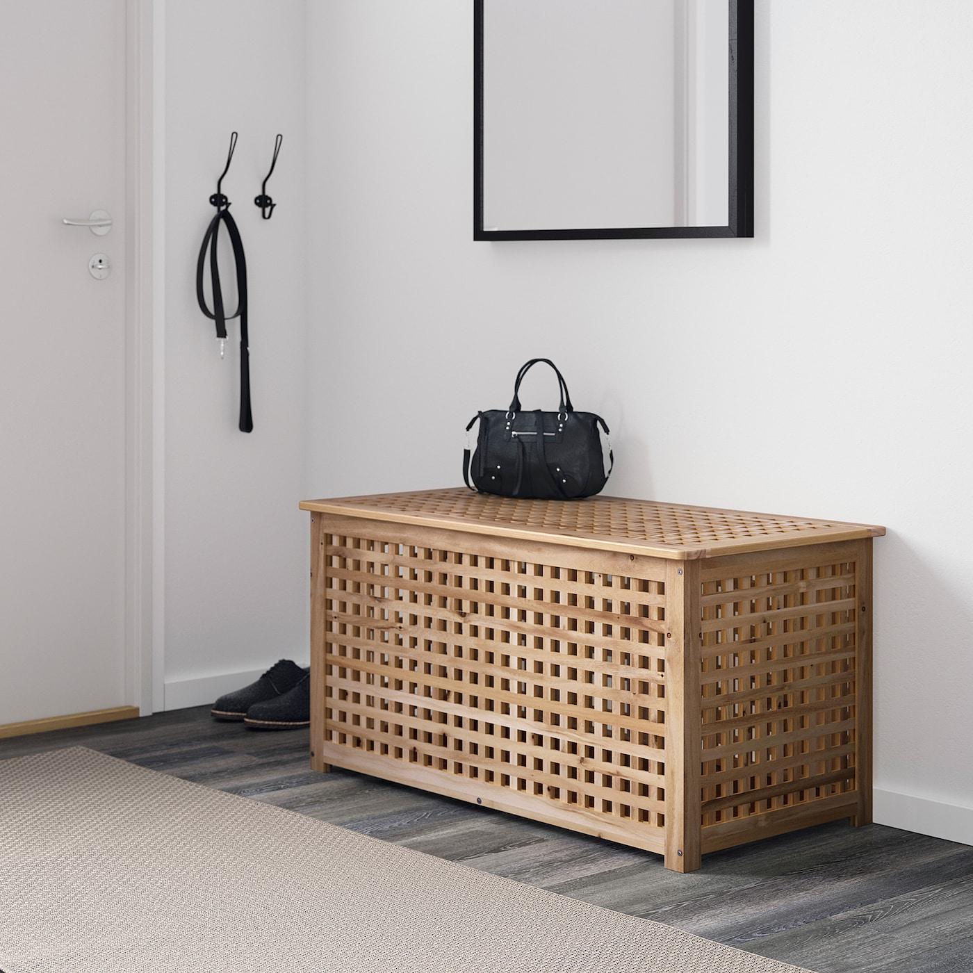 Hol Table De Rangement - Acacia 98X50 Cm intérieur Table Basse De Jardin Ikea