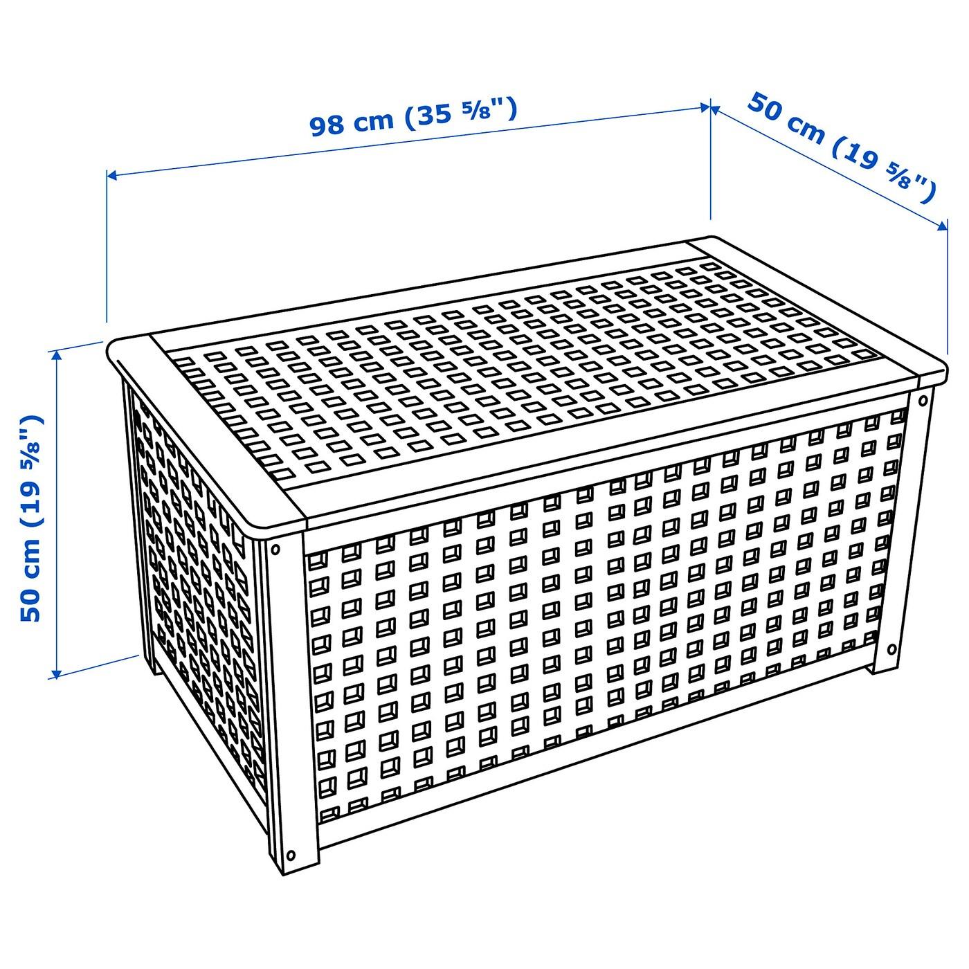 Hol Table De Rangement - Acacia 98X50 Cm tout Coffre De Jardin Ikea