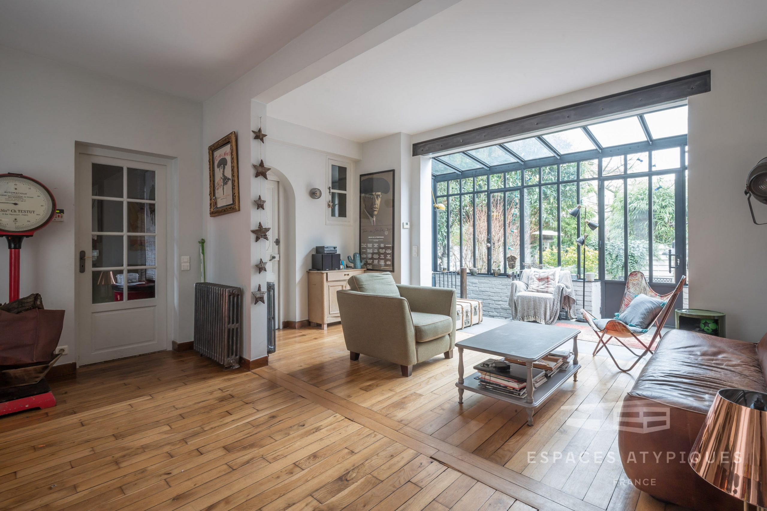 House With Glass Roof And Garden In Bagnolet 93170 dedans Verriere Jardin
