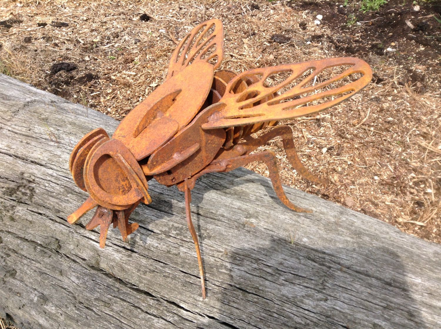 Housefly Insect Sculpture / 3D Fly Garden Decor / Insect ... serapportantà Fly Mobilier De Jardin