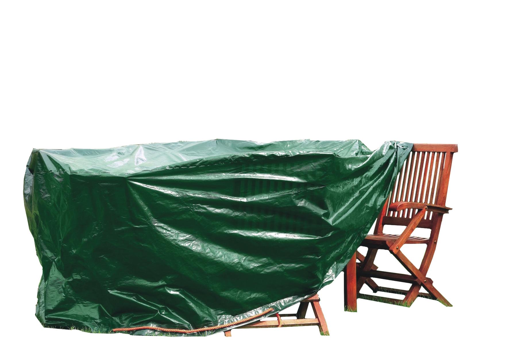Housse De Protection Pour Grande Table Ovale + Chaises 210 X ... dedans Bache Pour Salon De Jardin