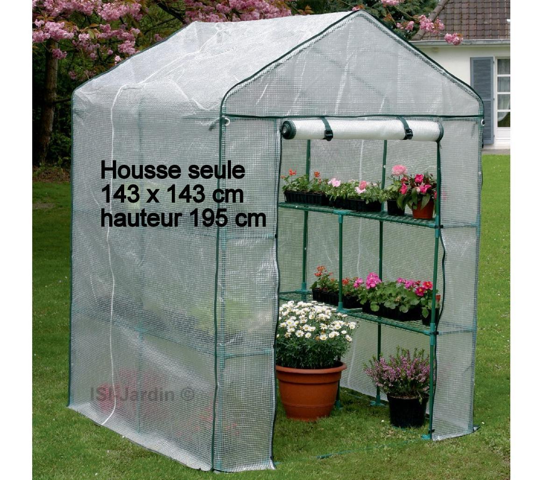 Housse Seule Pour Serre 143 X 143 Cm, Hauteur 195 Cm intérieur Bache Pour Serre De Jardin