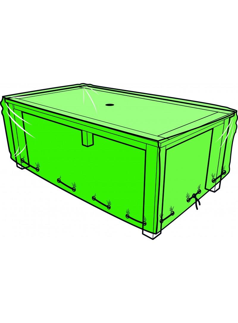 Housse Table Rectangulaire 180 X 110 X 60 Cm concernant Bache Pour Table De Jardin