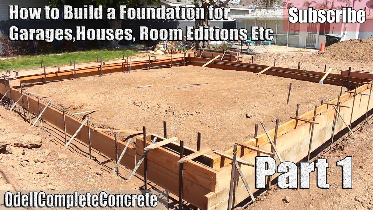 How To Build And Setup A Concrete Foundation For Garages ... tout Fondation Abri De Jardin