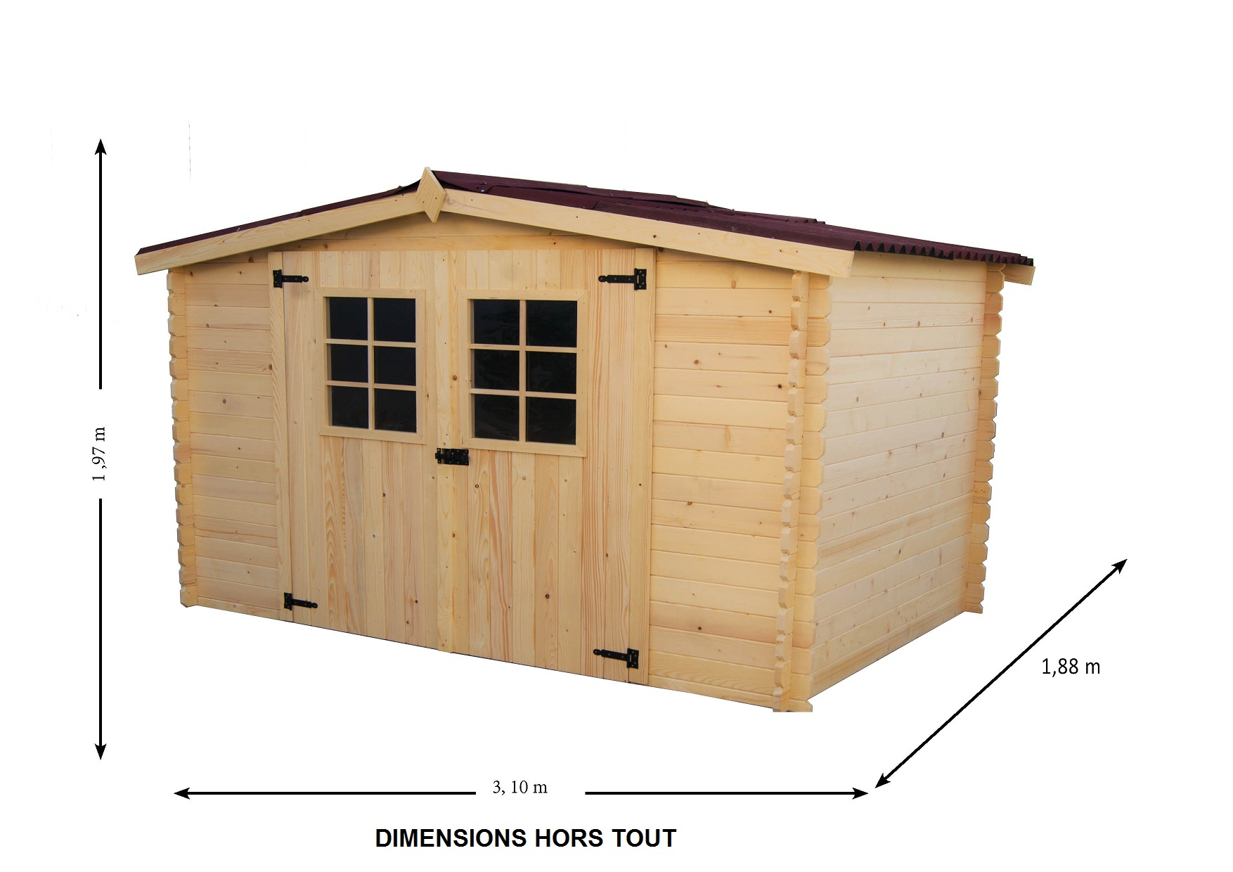 Https://.bouvara.fr/carport-Pour-Camping-Car-Hauteur-De ... serapportantà Abri De Jardin En Bois 5M2