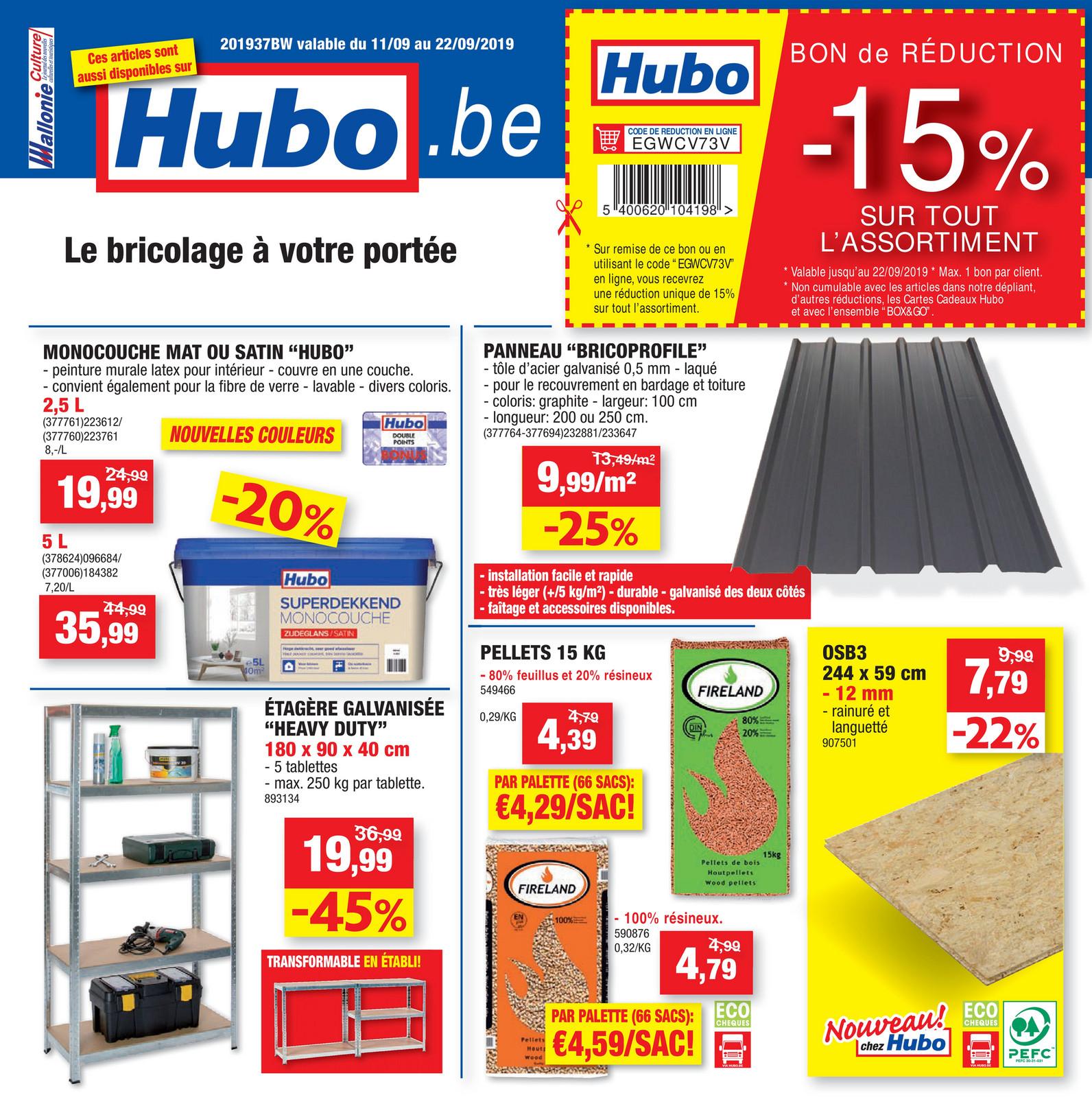 Hubo – Dépliant Du 11.09.2019 Au 22.09.2019 – Page 1 ... à Incinérateur De Jardin Brico Depot