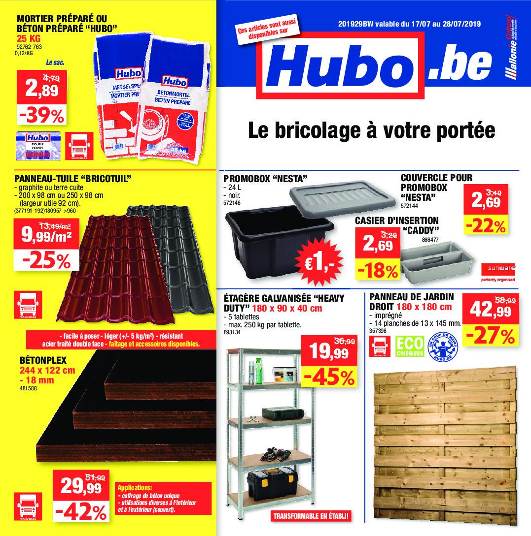 Hubo – Dépliant Du 17.07.2019 Au 28.07.2019 – Page 1 ... avec Abris Jardin Hubo