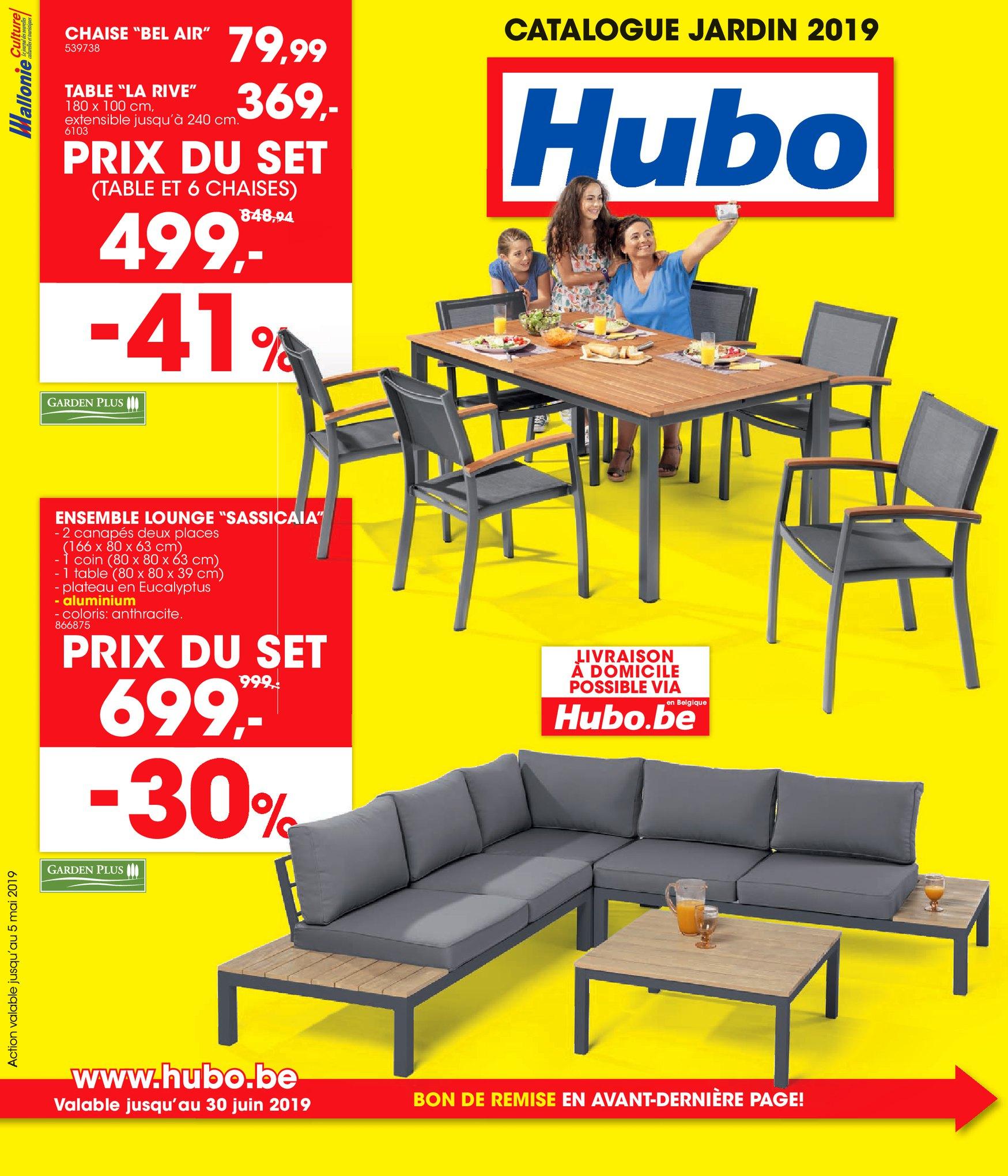 Hubo – Dépliant Du 31.03.2019 Au 11.08.2019 – Page 1 ... concernant Abris Jardin Hubo