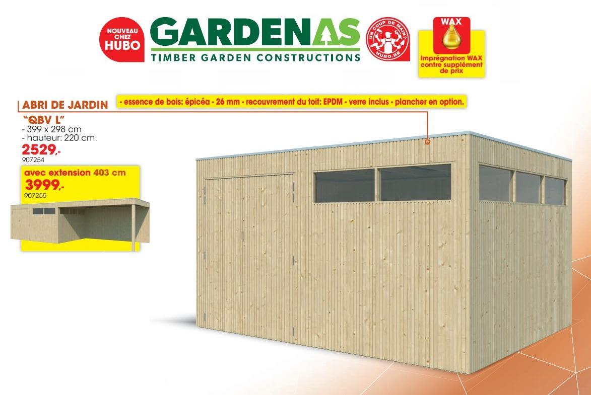 Hubo Promotie: Abri De Jardin Qbv L - Gardenas (Tuin En ... dedans Abris Jardin Hubo