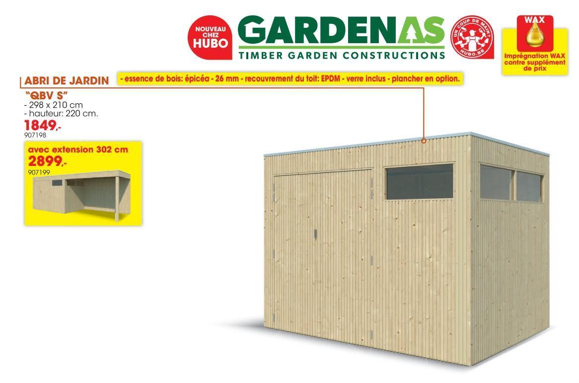 Hubo Promotie: Abri De Jardin Qbv S - Gardenas (Tuin En ... avec Abris Jardin Hubo