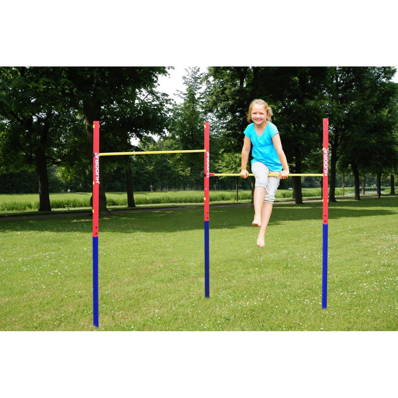 Hudora Hudora Barre Fix De Gym Fabien - Coloré tout Barre De Gymnastique Pour Jardin