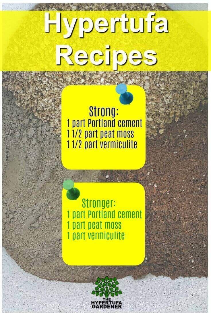Hypertufa Recipes | Cemento | Macetas De Cemento, Cemento ... serapportantà Vermiculite Jardin