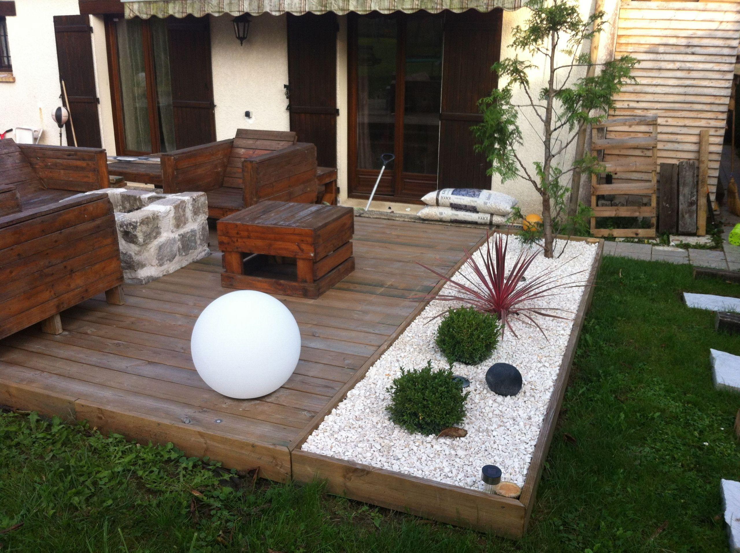 Idée Aménagement Extérieur Aménagement D Une Terrasse ... à Idée D Aménagement De Jardin