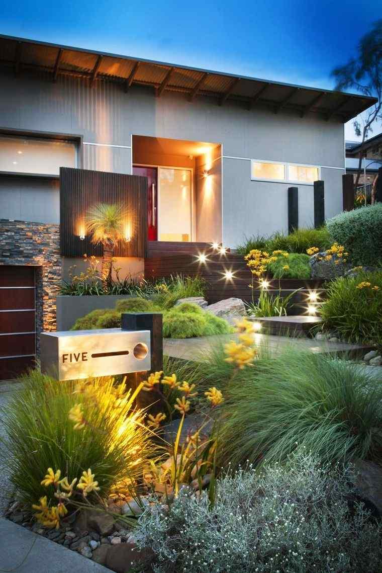 Idée Aménagement Jardin Devant Maison Moderne, Chic Et ... pour Aménagement Entrée Jardin