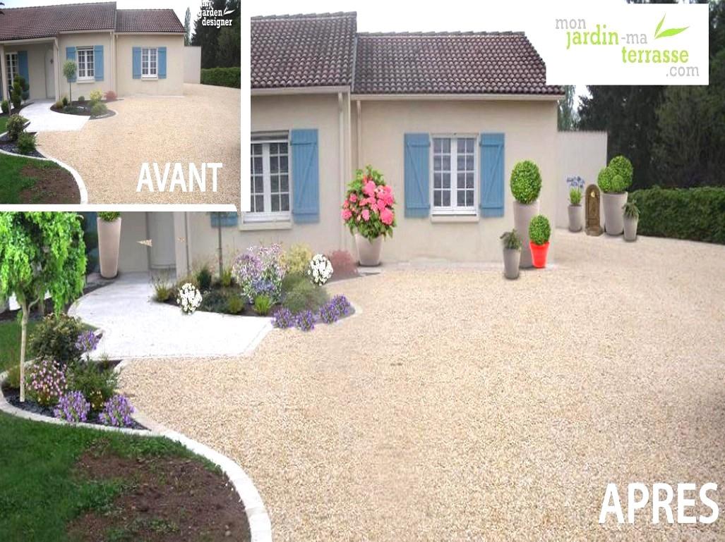 Idee Amenagement Jardin Devant Maison Nouveau Avant Avec ... destiné Idee Amenagement Jardin Devant Maison