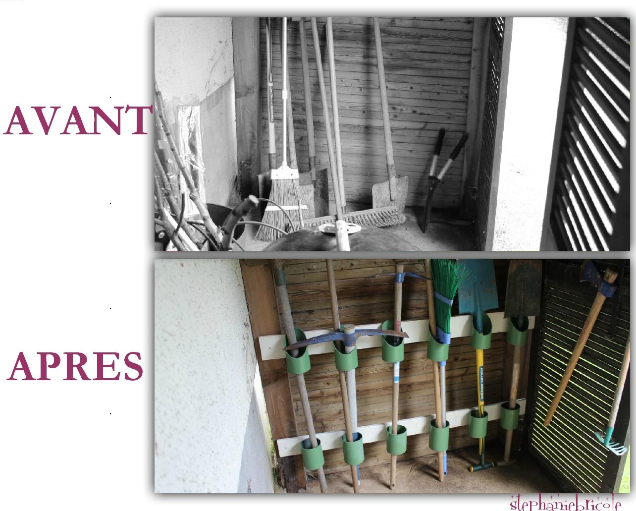 Idée De Rangement Récup Pour Le Jardin ! - Stéphanie Bricole concernant Range Outils De Jardin