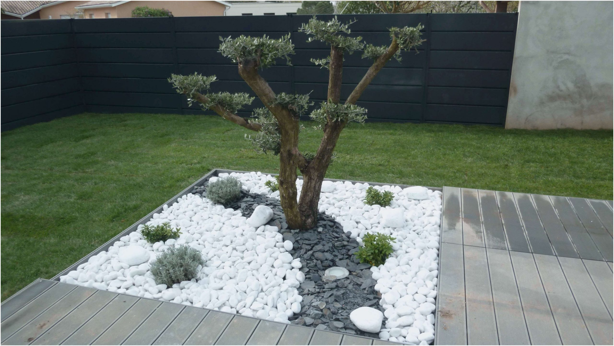 Idee Deco Jardin Avec Gravillon | Idee Deco Jardin ... serapportantà Galets Blancs Pour Jardin Pas Cher