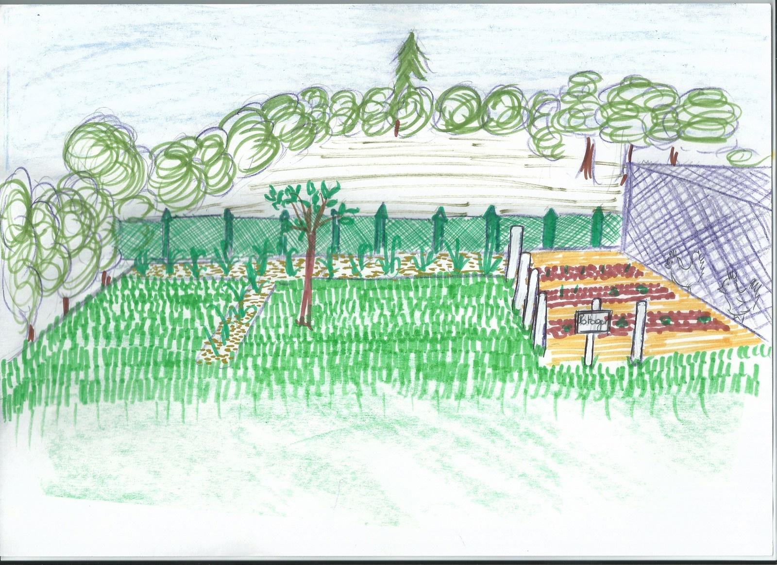 Idée Jardin : Délimitation Du Potager - Ma Maison Vivre Ici intérieur Delimitation Jardin