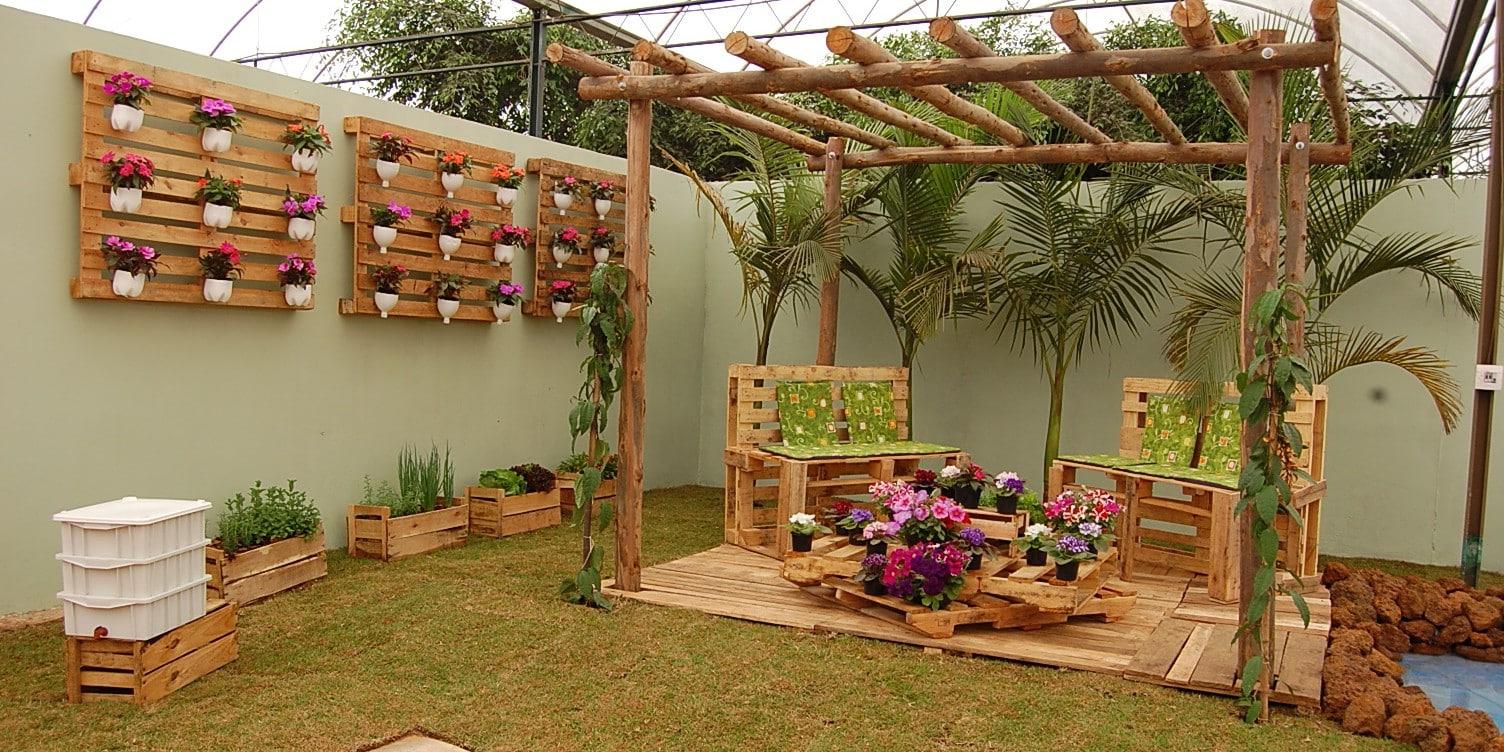 Idée Palette - 5 Façons Dе Meubler Votre Maison Et Le Jardin ... serapportantà Idée Deco Jardin