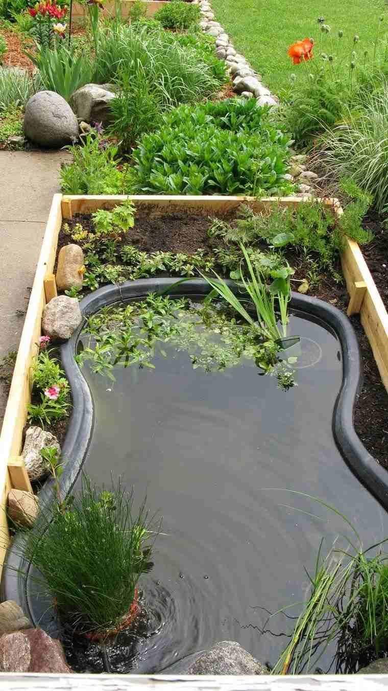 Idee-Pinterest-Deco-Jardin-Bassin-Eau-Exterieur #ponds ... pour Créer Un Bassin De Jardin