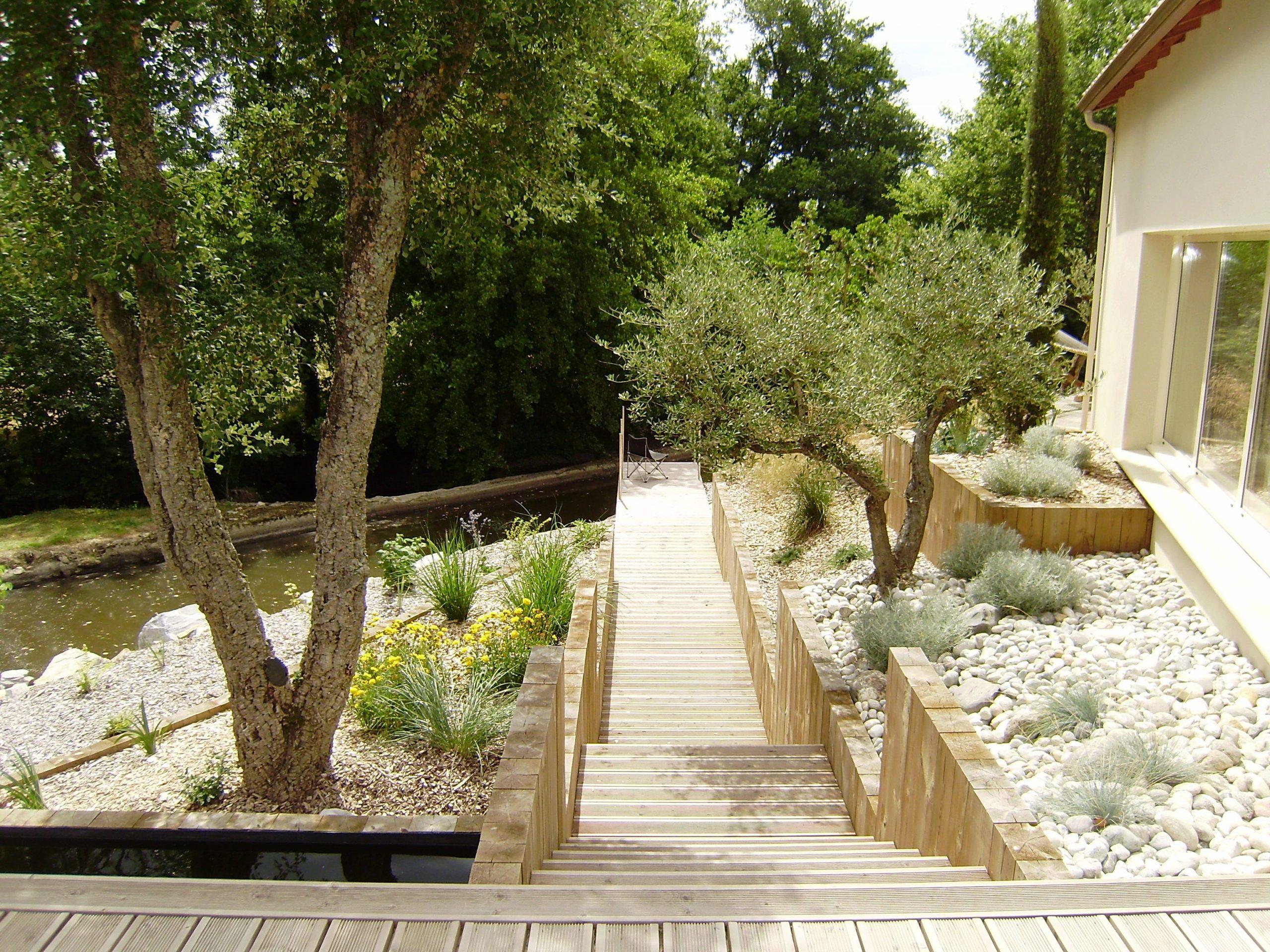 Idées D'aménagement De Jardin Moderne - Le Blog D'i Love ... concernant Modele De Jardin Avec Galets
