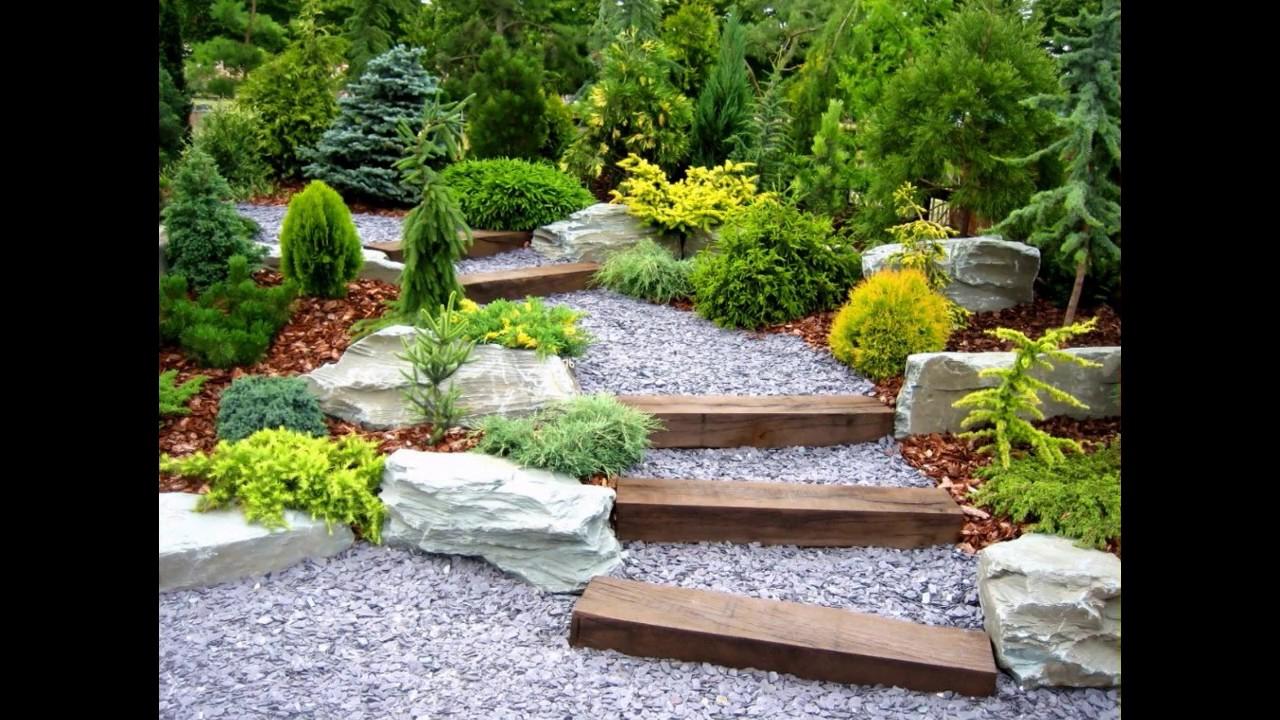 Idées Jardin De Gravier - dedans Cailloux Décoration Jardin