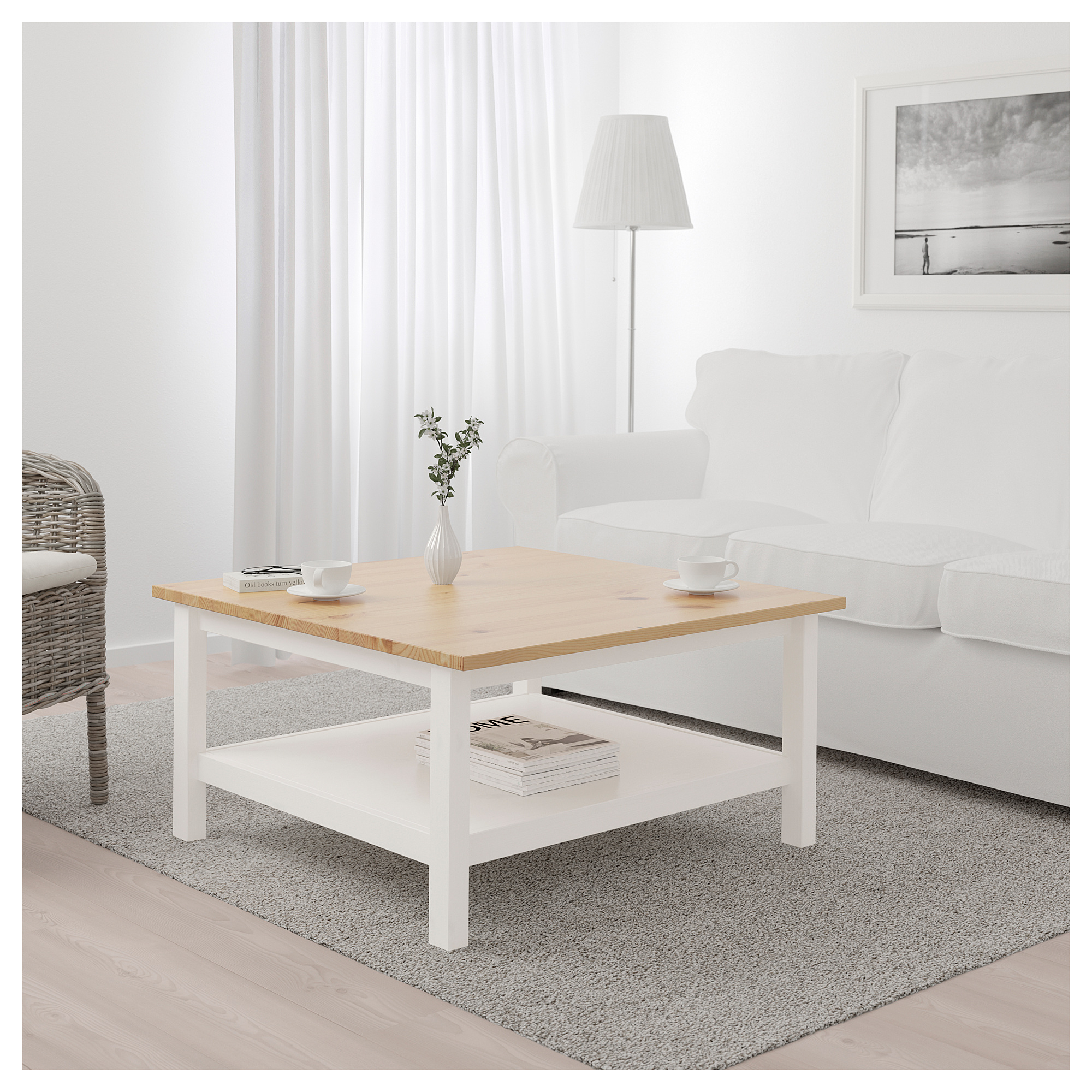 Ikea - Hemnes Coffee Table White Stain, Light Brown | Table ... concernant Table Basse De Jardin Ikea