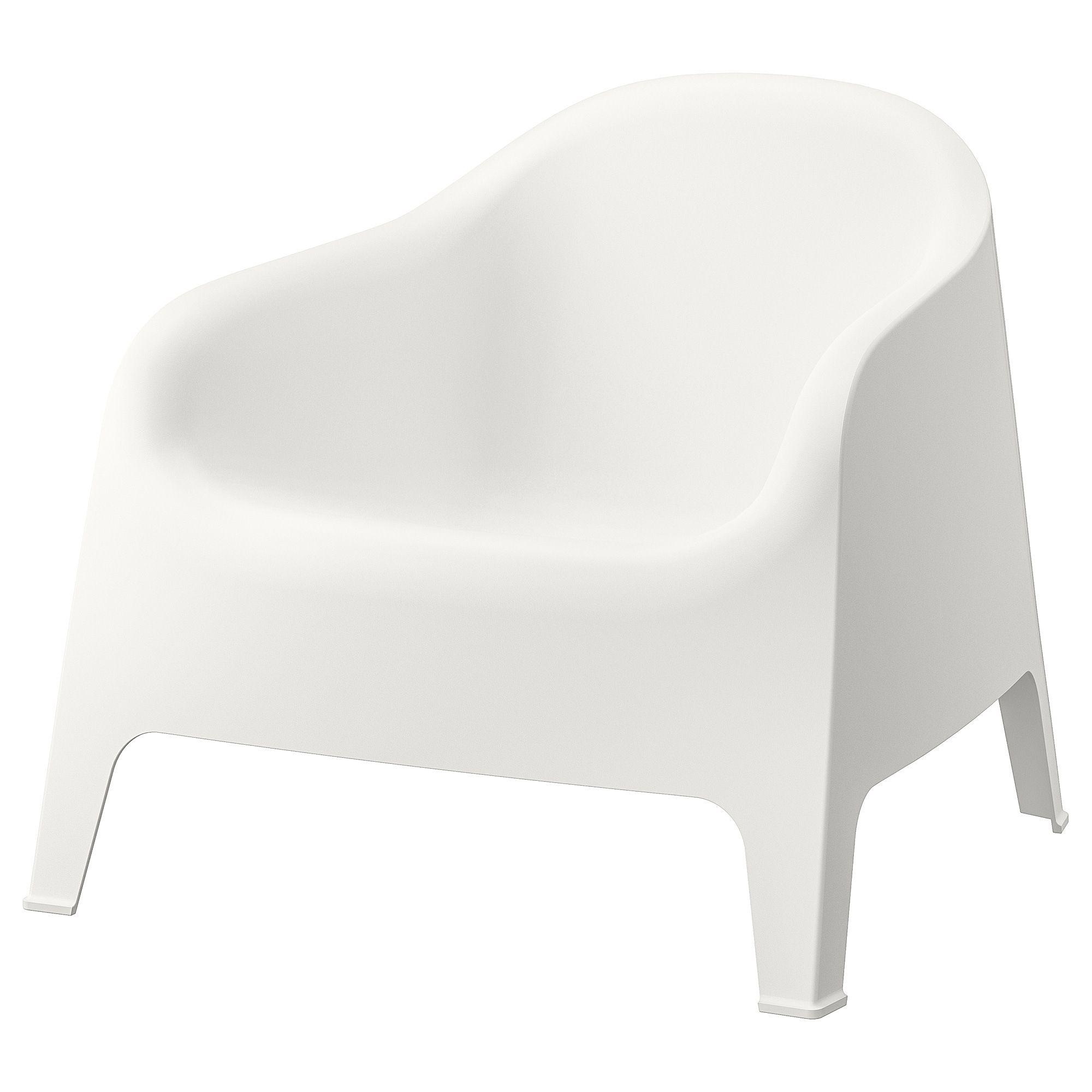 Ikea Skarpo White Armchair, Outdoor   Ikea Garden Furniture ... intérieur Transat Jardin Ikea